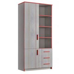 Шкаф книжный 2Д/3Ш (800) (детская Рио)