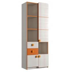 Шкаф книжный 3Д/2Ш (детская Санта)