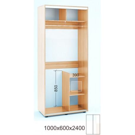 Шкаф-купе Феникс в240-г60 - Серия:Ширина шкафа: Лайт:100 см / 2-х фасадный